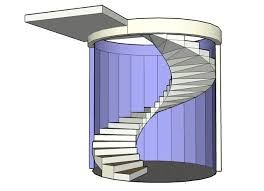 floating circular concrete staircase 8 steps with pictures
