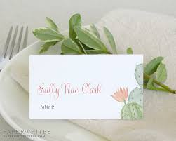 Placecards Cactus Watercolor Wedding Place Cards Paperwhites Wedding