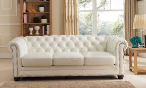faux leather chesterfield sofa amax nashville leather chesterfield sofa u0026 reviews wayfair