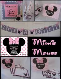minnie mouse baby shower decorations party in a box