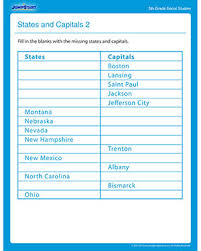 states and capitals u2013 free printable social studies worksheets for