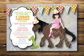 horse birthday party invitations marialonghi com