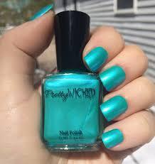 aqua nail polish talulah polish metallic aqua nail polish