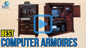 Used Computer Armoire by Top 6 Computer Armoires Of 2017 Video Review