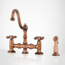 Kitchen Faucets Danze Bridge Kitchen Sink Faucet Antique Copper Front Roeblin With Side