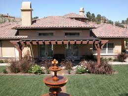 Wall Pergola Kits by Astounding Awnings For Backyard Patio From Dark Brown Canvas