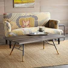 dutch rectangle gray wash coffee table