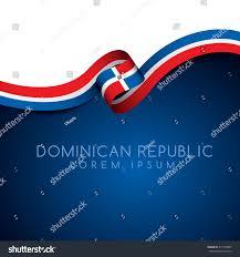 Dominican Republic Flags Dominican Republic Flag Ribbon Vector Illustration Stock