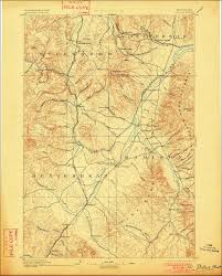 Map Montana Dewey Montana 1893 Topo Map