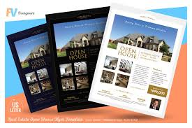 Template Real Estate Flyer by Real Estate Open House Flyer Flyer Templates Creative Market