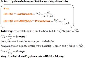 permutations and combinations quantitative aptitude mcq questions