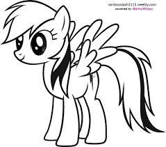 pony rainbow dash coloring pages getcoloringpages