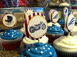 cupcakes for heather u0027s vintage motorcycle americana baby shower