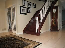 Mahogany Banister Hall Traditional Staircase Toronto By Chic Decor U0026 Design