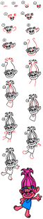 thanksgiving drawings step by step how to draw poppy from trolls