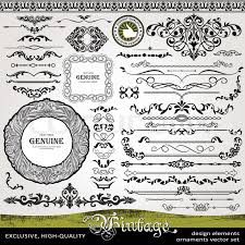 vintage design elements ornaments and dividers and page