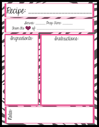 free printable recipe pages recipe template for pages gidiye redformapolitica co