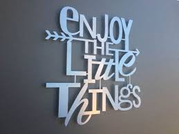 metal wall letters home decor enjoy the little things metal wall art home decor wall art