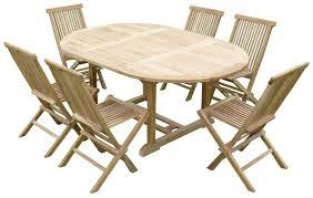 teck grade a beautiful table de jardin en teck ovale ideas amazing house