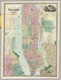 Maps Of New York by Of New York And Vicinity Dripps Matthew 1863