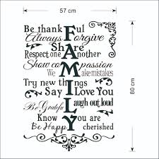 vinyl wall art stickers large family rules wall decals for living high quality self adhesive matte vinyl stickers with little cost or effort you can decorate your home without the trouble or expense of painting
