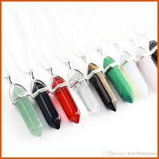 personalized charms bulk wholesale bullet shape pendant necklaces opal jade