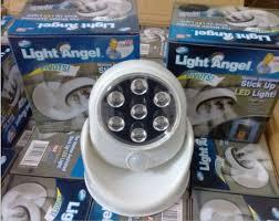 stick up led lights light angel motion sensor activated cordless 7 leds light