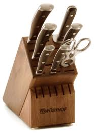 German Kitchen Knives Wusthof 7 Knife Block Set Wusthof Ikon Blackwood On Sale Free