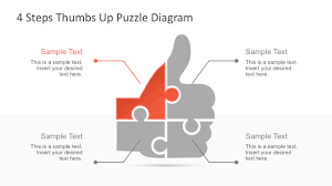 free thumbs up puzzle powerpoint diagram slidemodel