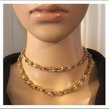 vintage gold chain necklace images Vintage jewelry quality elegant gold chain necklace poshmark jpg