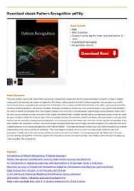 pattern recognition and image analysis by earl gose pattern recognition and image analysis by earl gose pdf pdfkul com