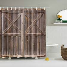 Shower Curtains Rustic Rustic Shower Curtain Wooden Barn Door Of Farmhouse Oak