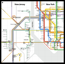 New Jersey New York Map by A Beautiful New Public Transit Map Shows How New York And New