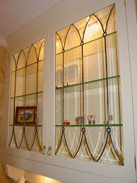 cabinet doors inserts beveled stained glass etched art glass
