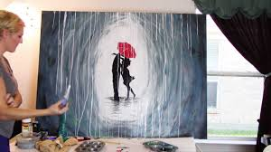 how to paint a rainy day scene with acrylics youtube