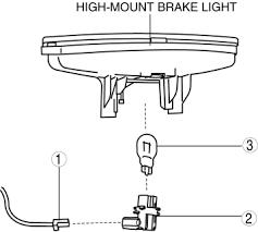 High Mount Brake Light Mazda 3 Service Manual High Mount Brake Light Bulb Removal
