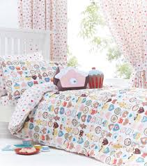 Bed Linen And Curtains - sweetheart pink girls cupcake bedding duvet cover set sheet or