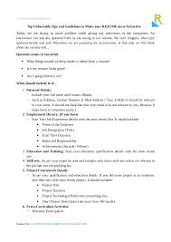 Resume Builder Tips Top Unbeatable Resume Tips And Guidelines To Make It More Attractive