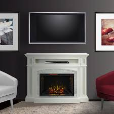 Electric Fireplace Entertainment Center Drew Infrared Electric Fireplace Tv Stand In White Cs 33wm1100 Wht