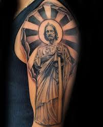 tattoo cross rays 40 st jude tattoo designs for men religious ink ideas