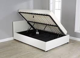 sabina king single gas lift storage bed frame white buy throughout