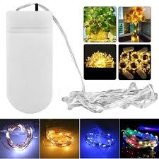 micro led christmas lights 10x micro wire led string fairy light 2m 20 leds cr2032 button
