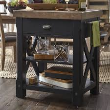 17 stories dontae accents kitchen island with butcher block top