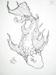 outline tattoos source http tattoostime com koi fish outline