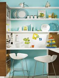 kitchen fair blue and yellow kitchen decoration using mounted wall