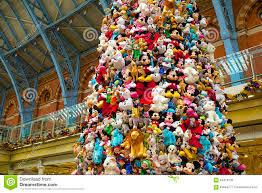 disney toys on christmas tree editorial image image 64419195
