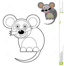 cartoon animal coloring page illustration for the children