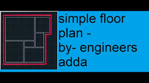 floor plan basics autocad 2d basics tutorial to draw a simple floor plan 2017