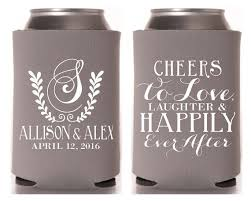 wedding can koozies wedding koozies