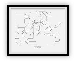 Korea Subway Map by Seoul Subway Map Print Seoul Metro Map Poster U2013 Ilikemaps